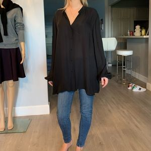 NWT 100% silk loose style blouse